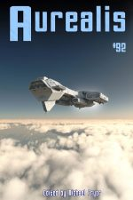 revised Aurealis #92 cover space ship Michael Pryor
