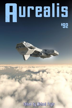 revised Aurealis #92 cover space ship Michael Pryor